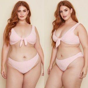 Other - Daisy Duke Pink Eyelet Plus Size Bikini
